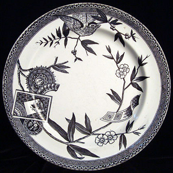 Rare Color Aesthetic Transferware Plate ~ LOUISE 1885