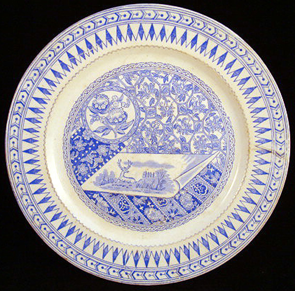 Aesthetic Blue Transferware Plate ~ Canterbury 1883