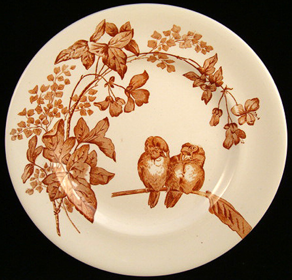 Superb Aesthetic Transfer Plate ~ Lovebirds 1885