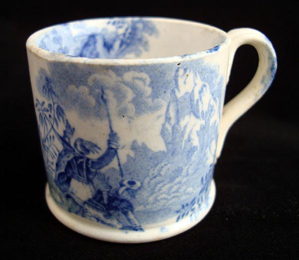 Miniature Staffordshire  Mug ~ Hannibal Crossing Alps 1830