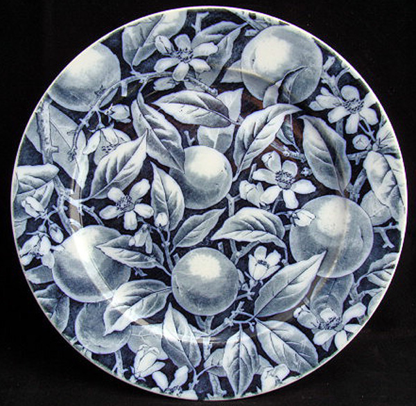 Dark Blue Aesthetic Plate ~ PEACHES 1875