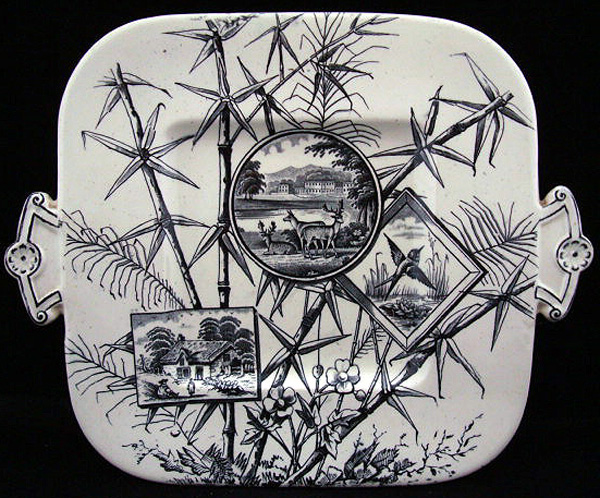 Outstanding Aesthetic Cake Plate ~ Herd of Deer 1883