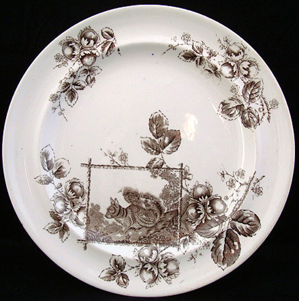 Arts and Crafts Aesthetic Plate ~ Squirrel 1880