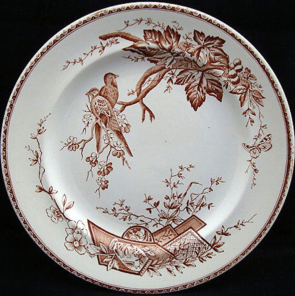 Victorian Aesthetic Plate ~ LOVEBIRDS 1884