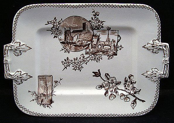 Brown Transfer Tray Platter ~ DARTMOUTH 1877