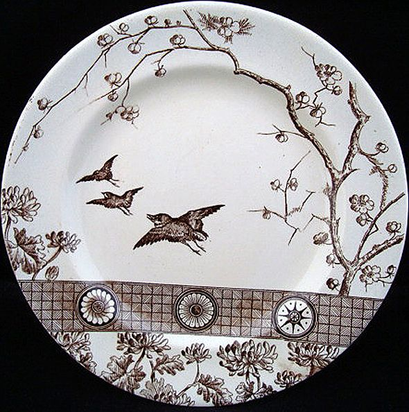 Aesthetic Brown Transferware PLATE ~ RANGOON 1890
