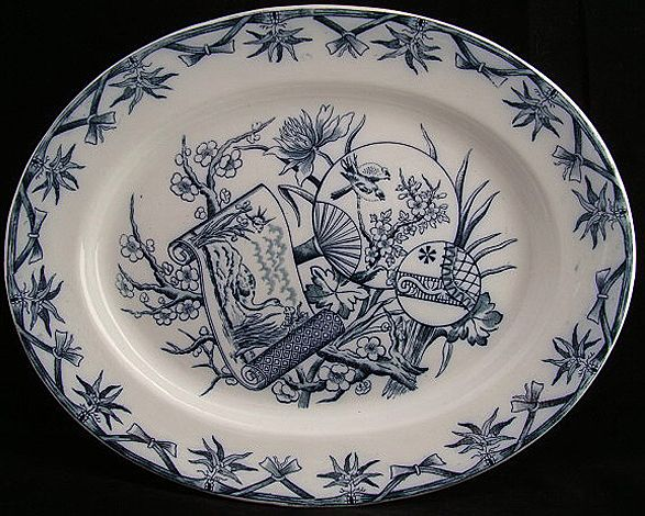 Deep Blue Aesthetic Transfer Platter ~ FAN 1885
