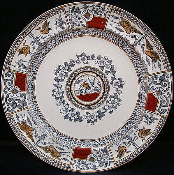EXC Victorian Polychrome Plate ~ KIOTO 1880