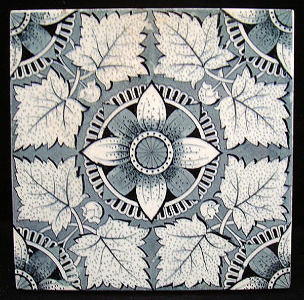 Aesthetic Victorian Tile ~ MAPLE LEAVES 1885