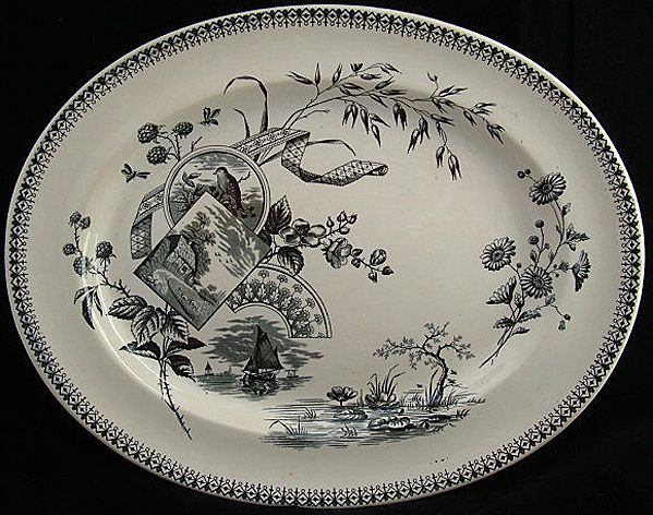 Outstanding Victorian Platter ~ Raspberries TENNYSON1884