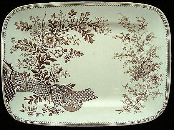 Christopher Dresser Aesthetic Movement Transfer Platter - Hampden 1884