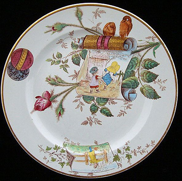 Superb Multi-Colored Aesthetic Plate ~ ROSEBUD 1883