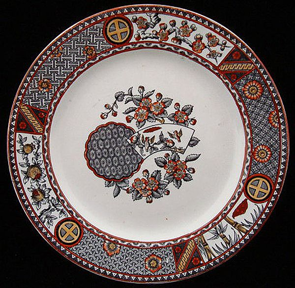 Aesthetic Era Polychrome Plate ~ LOVEBIRDS 1879