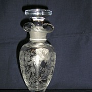 Cambridge Glass Rosepoint Etched #1261 Footed French Dressing Bottle