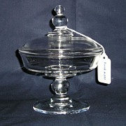 Imperial Candlewick Cheese Compote #400/157 with #400/144 Cover