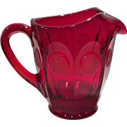 Fostoria Ruby Red Coin Pattern Pitcher