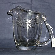 Fostoria #833 Bridal Wreath Cutting on One Quart Contour Jug