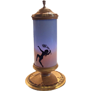 DeVilbiss Perfume Light with Female Decorated Cylindrical Chimney