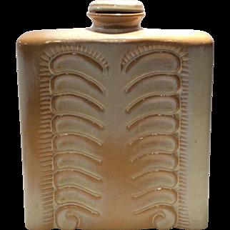 Frankoma Desert Gold Finger Print/Thumbprint 2-Quart Decanter & Stopper