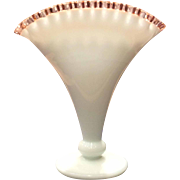 "Fenton No. 573 - 8"" Rose Crest Fan Vase"