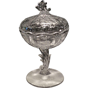 Fostoria Chintz Crystal Jelly with Cover