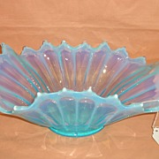 Fostoria Blue Opalescent Heirloom Flared Centerpiece Bowl