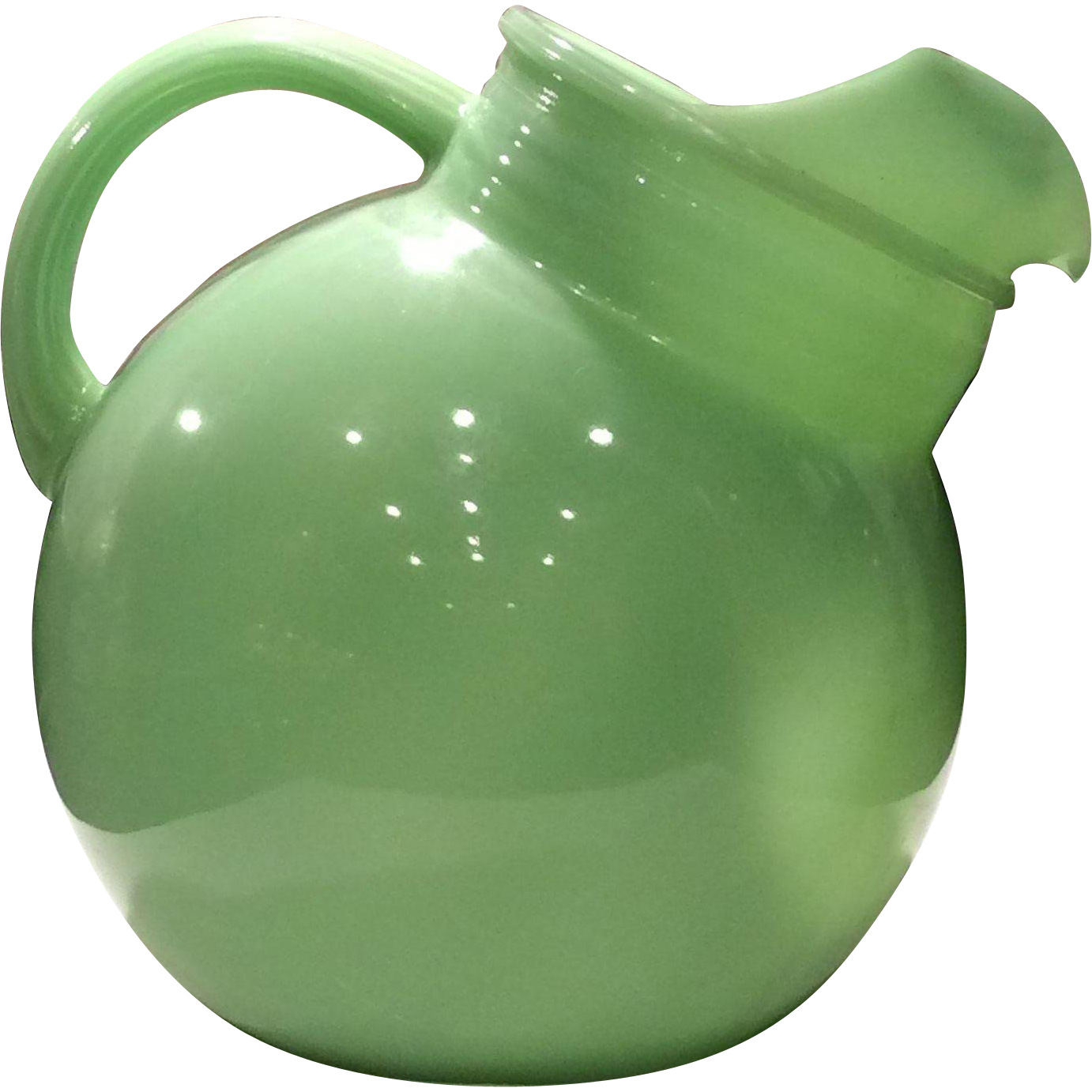 Fire King Jadite 80 Ounce Ball Pitcher From Aglassact On