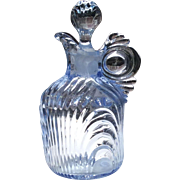 "Cambridge Glass Moonlight Blue Caprice #3550 - 6"" - #100 - 5 Ounce Cruet"