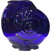 "Cambridge Glass Cobalt Blue #46 - 7-1/2"" a ""Sea Shell"" Vase"