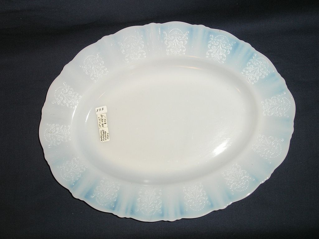 Macbeth Evans Glass Company American Sweetheart Monax Serving Platter