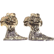 Duncan Miller Pair of Crystal Tropical Fish Candleholders