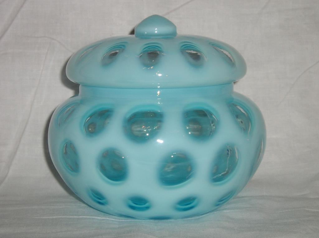 Fenton # 91 Blue Opalescent Coin Dot Candy