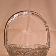 Heisey Crystal Basket - #480 Daisy and Leaves Cutting