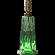 Kopp Green Modernistic Glass Lamp