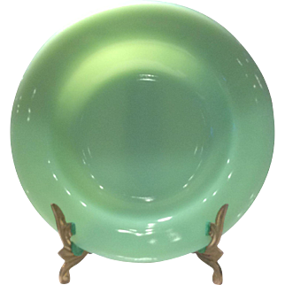 "Fire King/Anchor Hocking Jadeite (Jadite) 9"" Flat Rim Restaurant Ware Soup Bowl"