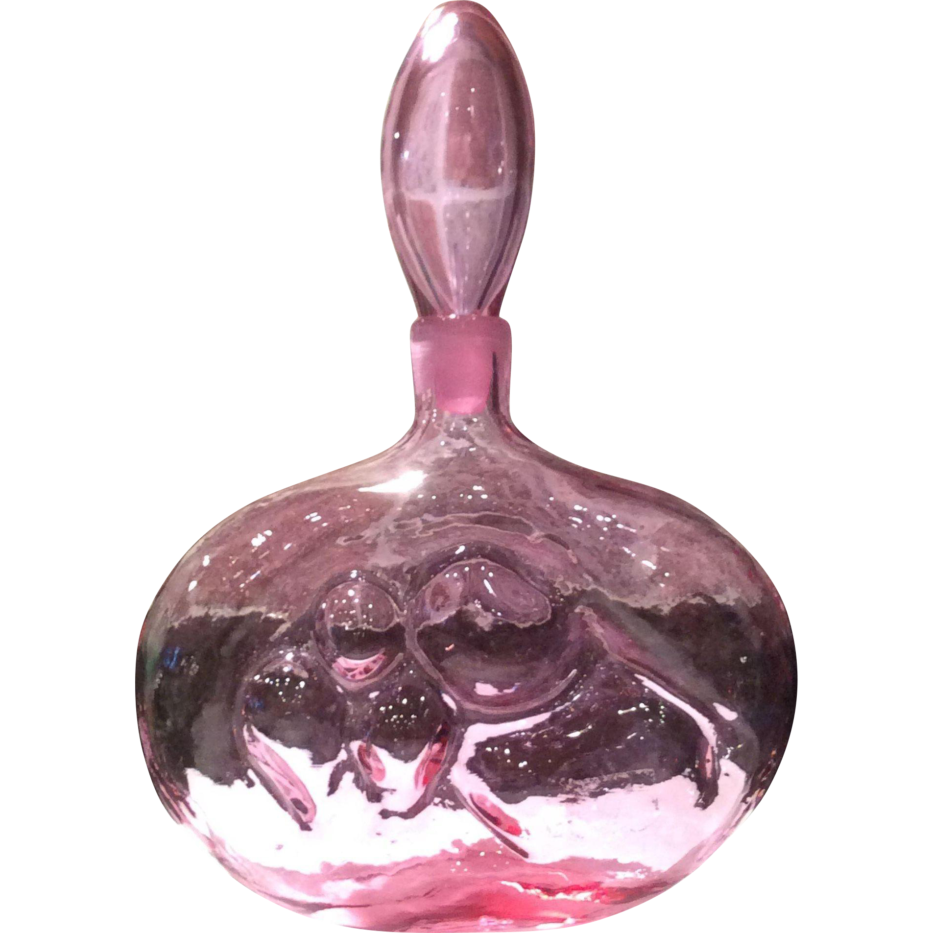 Blenko Rose' #6310 Decanter, Design 10, by Wayne Husted
