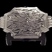 Fenton Crystal San Toy Etched & Handled Tray