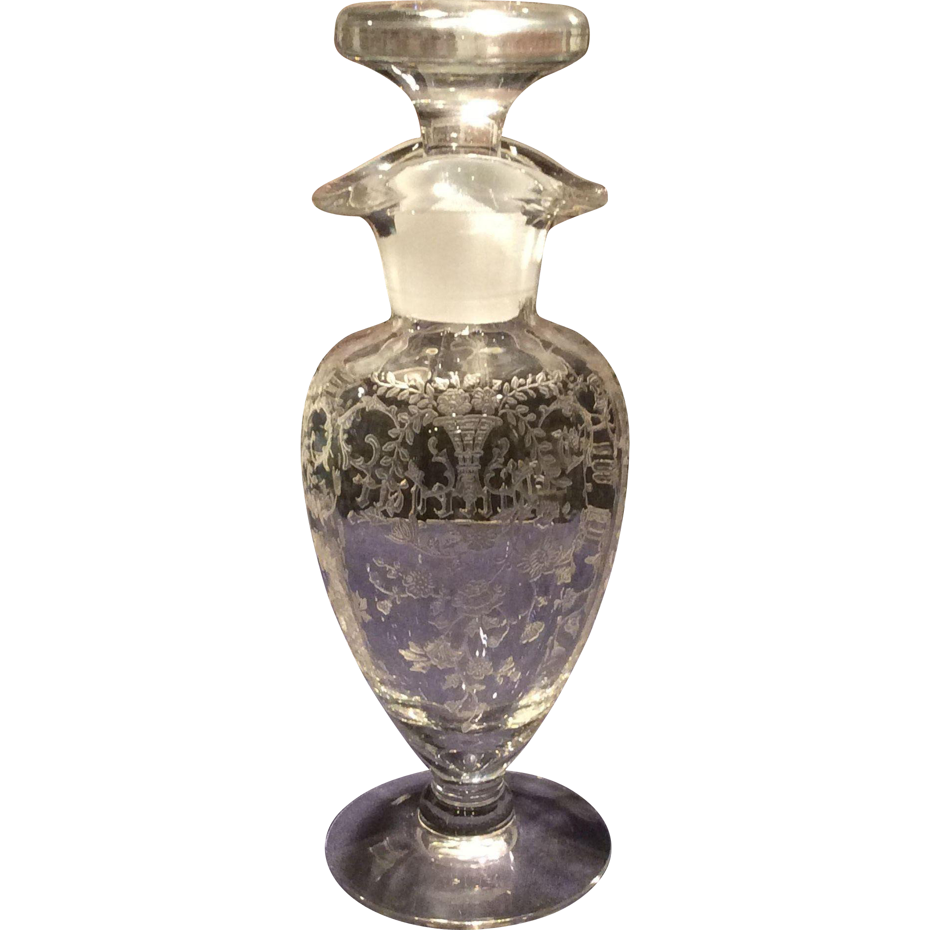 Cambridge Crystal Portia Footed French Dressing Bottle