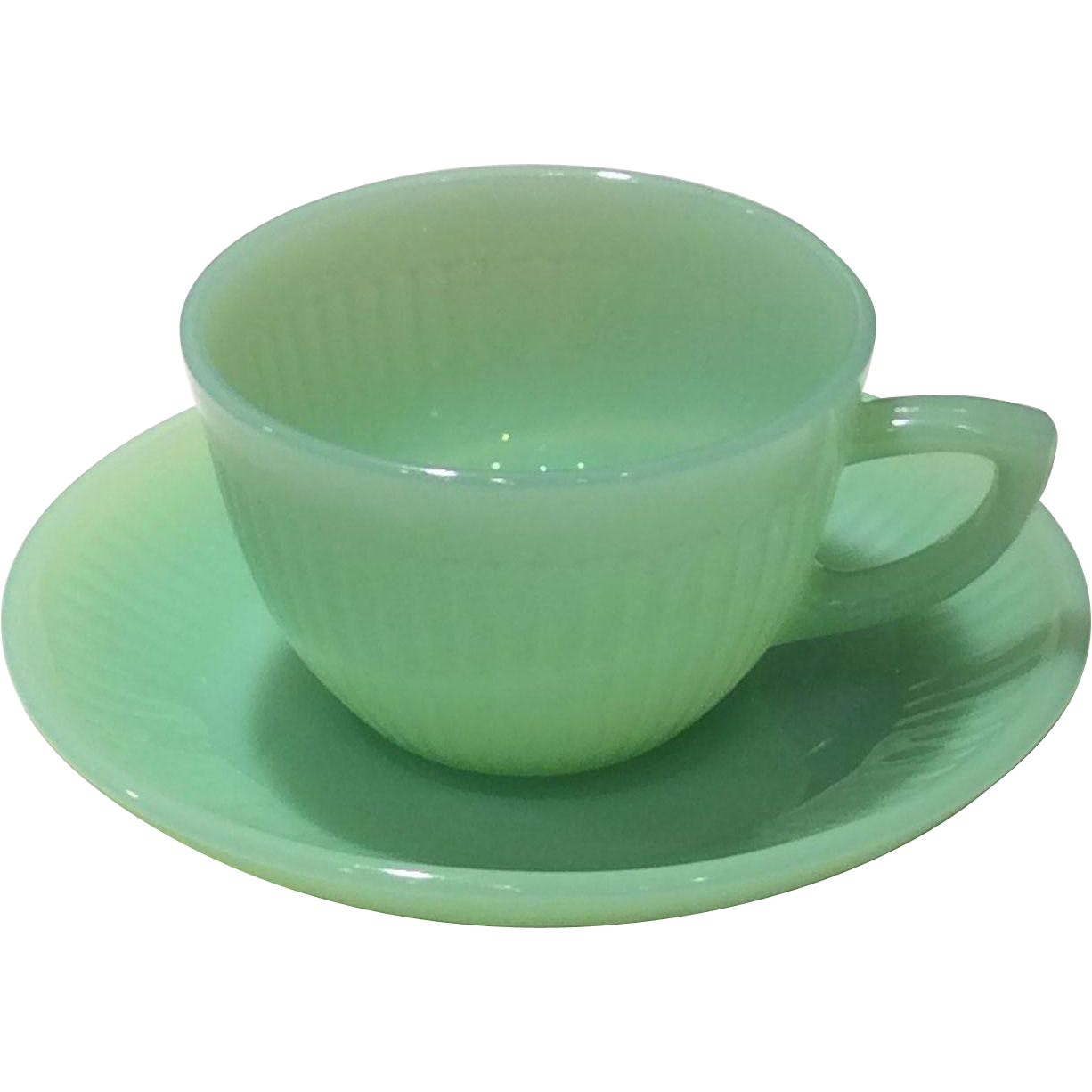 """Fire King """"Jane Ray"""" Demitasse Cup & Saucer Set"""