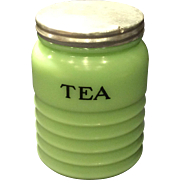 Jeannette Jadite 16 Ounce Tea Canister