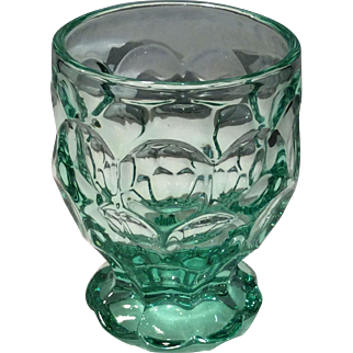 Heisey Zircon (Blue-Green) Whirlpool No. 1506 Footed 8 Ounce Tumbler