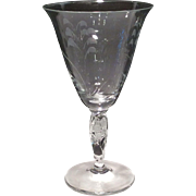 """Duncan Miller Crystal """"Lily of the Valley"""" Cut 8 ounce Goblet"""