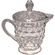 Fostoria Crystal American Syrup with Matching Glass Cover