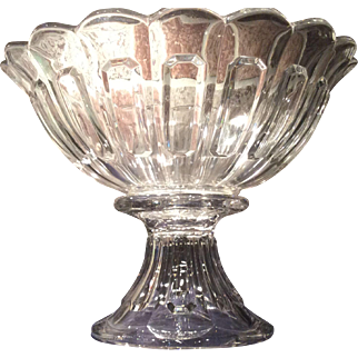 Heisey Kalonyal, No. 1776, Colonial Pattern 2-Piece Punch Bowl & Stand