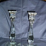 Heisey Regal Pattern # 47 Crystal Candlesticks