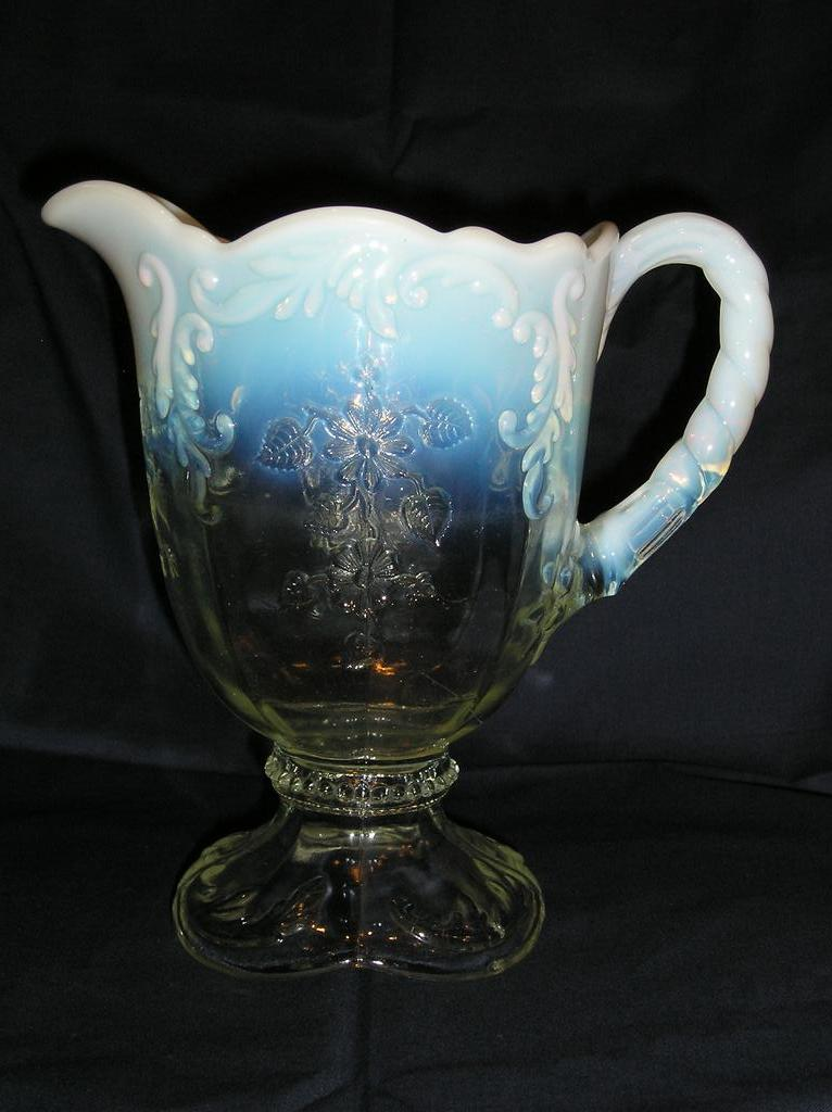 Northwood Opalescent Intaglio Pitcher Jug From Aglassact On Ruby Lane