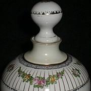 Nippon Noritake Perfume Bottle – vintage Victorian style rose flower motif - Red Tag Sale Item