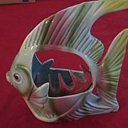 Colorful Ceramic Swimming Angel Fish Ashtray
