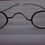 18th Century Brass Framed Spectacles with Ear Loops