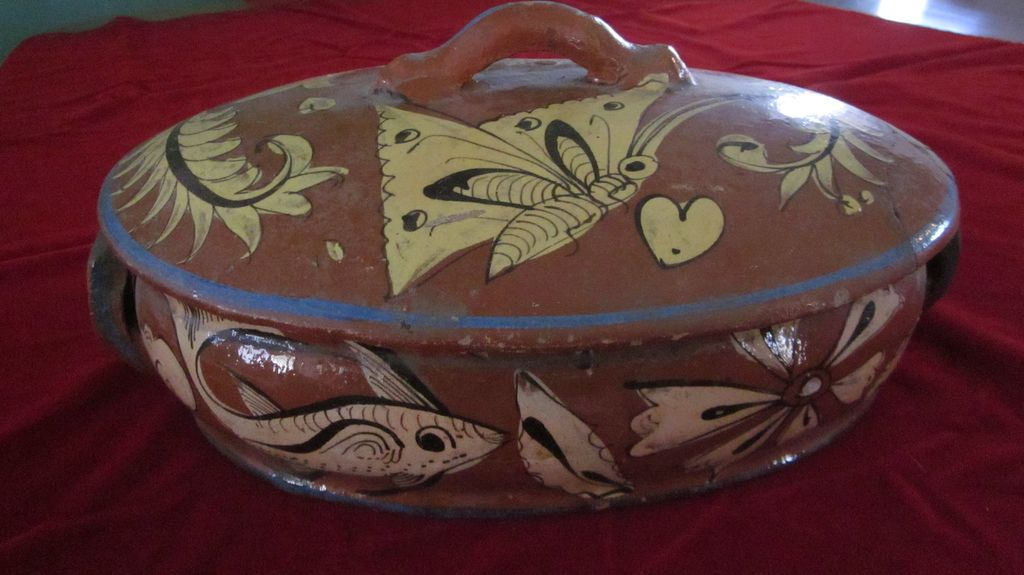 Vintage Tlaquepaque Fantasia Style Tureen with Lid